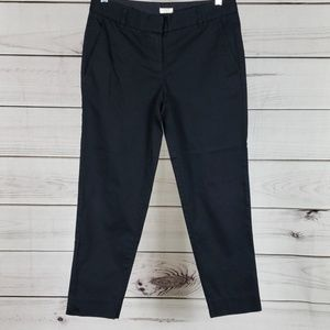 J.Crew• 2 pants chino flat front ankle black
